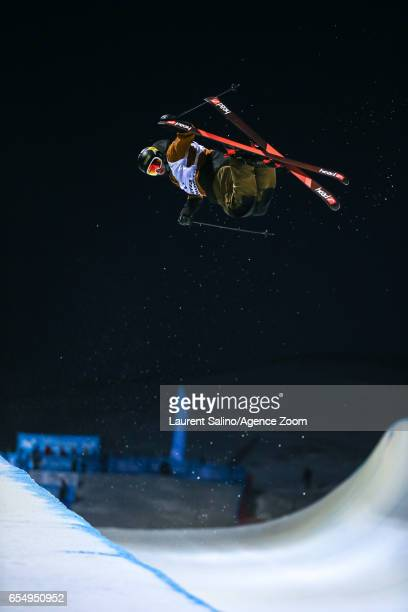 Aaron Blunck of USA wins the gold medal during the FIS Freestyle Ski Snowboard World Championships Halfpipe on March 18 2017 in Sierra Nevada Spain