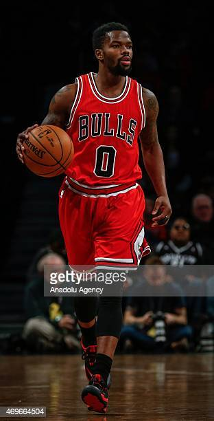 Aaron Brooks of Chicago Bulls in action during NBA game between Brooklyn Nets and Aaron Brooks at Barclays Center in New York United Nations on April...