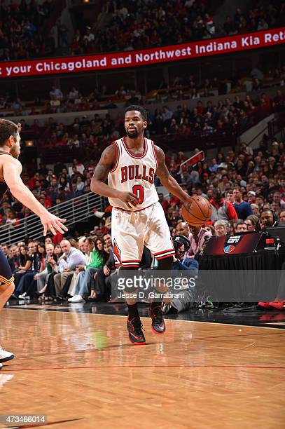 Aaron Brooks of the Chicago Bulls dribbles the ball against the Cleveland Cavaliers at the United Center During Game Six of the Eastern Conference...