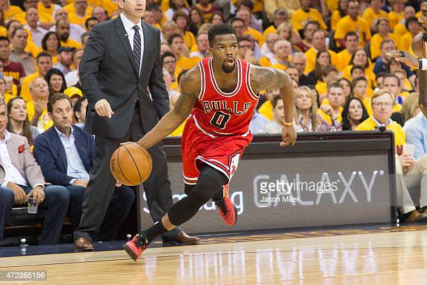 Aaron Brooks of the Chicago Bulls drives in the second half against the Cleveland Cavaliers during Game One in the Eastern Conference Semifinals of...