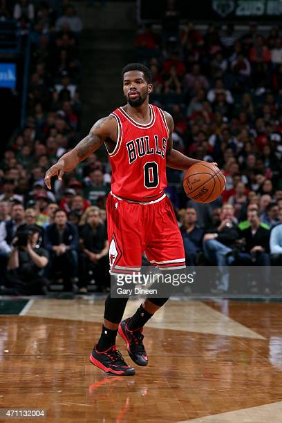 Aaron Brooks of the Chicago Bulls handles the ball against the Milwaukee Bucks in Game Four of the Eastern Conference Quarterfinals during the 2015...