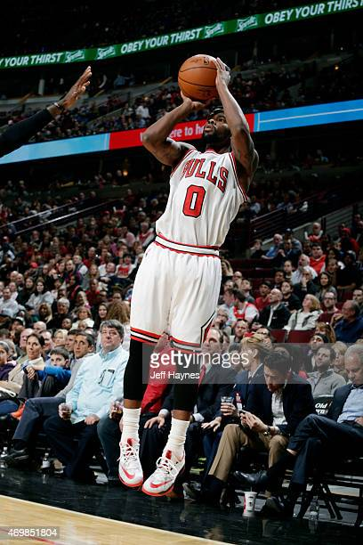Aaron Brooks of the Chicago Bulls shoots against the Atlanta Hawks on April 15 2015 at the United Center in Chicago Illinois NOTE TO USER User...
