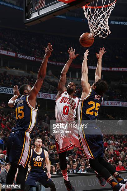 Aaron Brooks of the Chicago Bulls shoots the ball against the Utah Jazz on March 19 2016 at the United Center in Chicago Illinois NOTE TO USER User...
