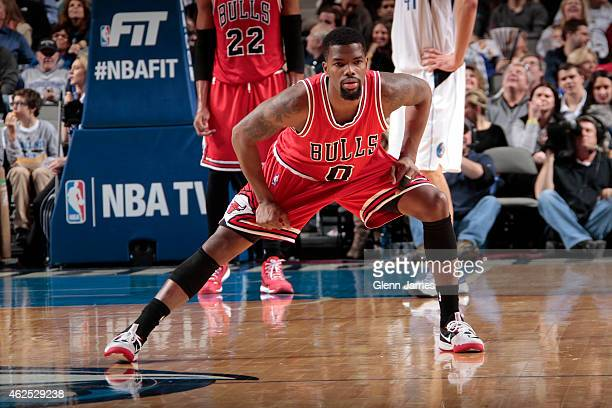 Aaron Brooks of the Chicago Bulls stretches during the game against the Dallas Mavericks on January 23 2015 at the American Airlines Center in Dallas...