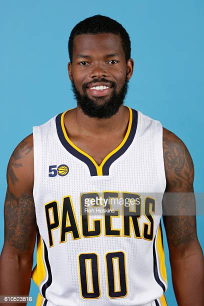 Aaron Brooks of the Indiana Pacers poses for a head shot during media day at Bankers Life Fieldhouse on September 26 2016 in Indianapolis Indiana...