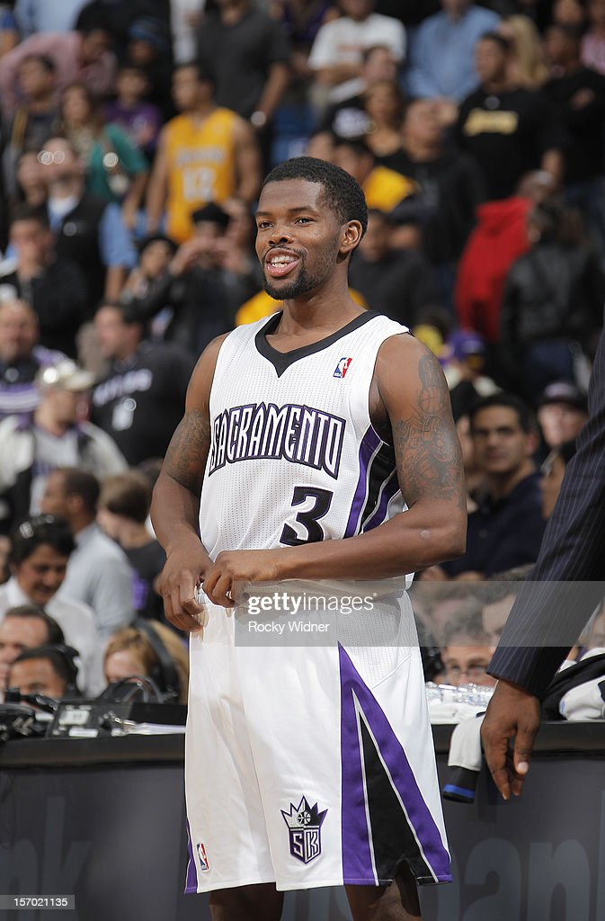Aaron Brooks #3 of the Sacramento Kings in a game against the Los Angeles Lakers on November 21, 2012 at Sleep Train Arena in Sacramento, California.