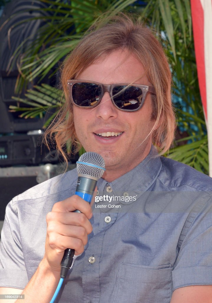 Aaron Bruno of AWOLNATION backstage during KROQ Weenie Roast Y Fiesta at Verizon Wireless Amphitheater on May 18, 2013 in Irvine, California.