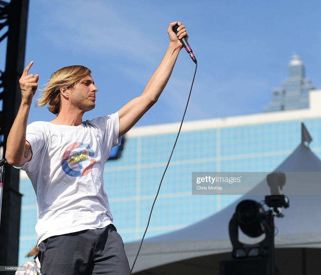 Aaron Bruno of AWOLNATION performs during Party In The Park at Centennial Olympic Park on May 19, 2012 in Atlanta, Georgia.