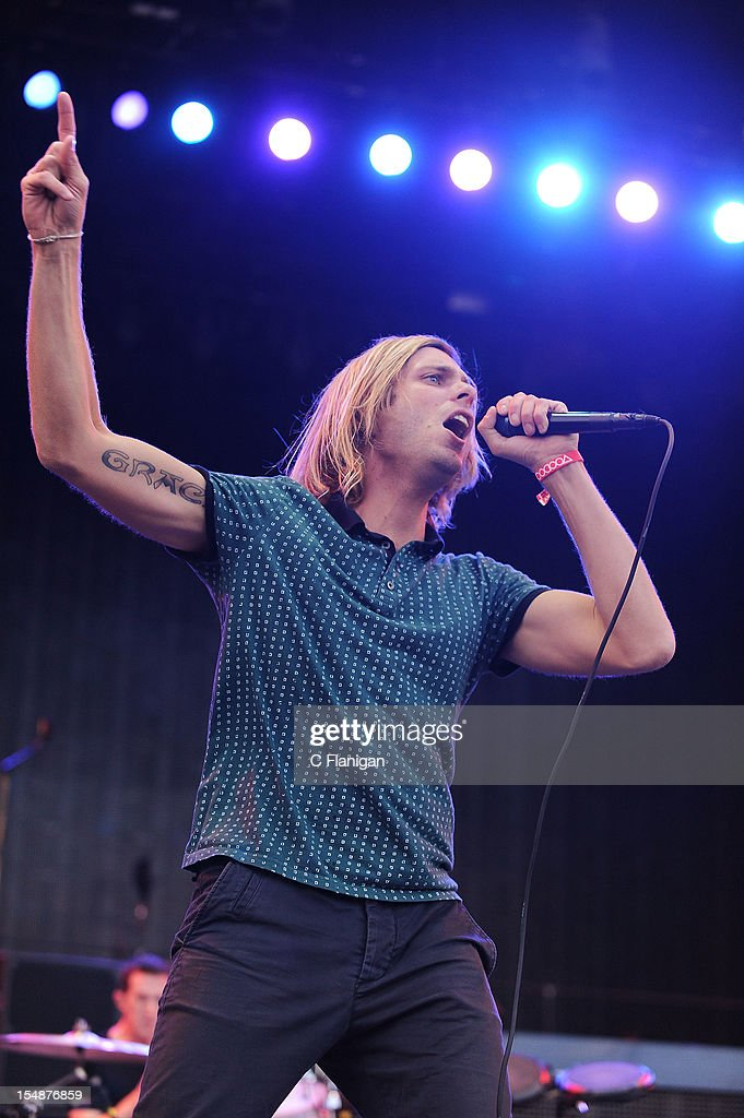 Aaron Bruno of Awolnation performs during the 2012 Voodoo Experience at City Park on October 27, 2012 in New Orleans, Louisiana.