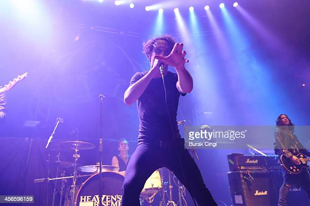 Aaron Buchanan of Heaven's Basement performs on stage at The Roundhouse on December 14 2013 in London United Kingdom