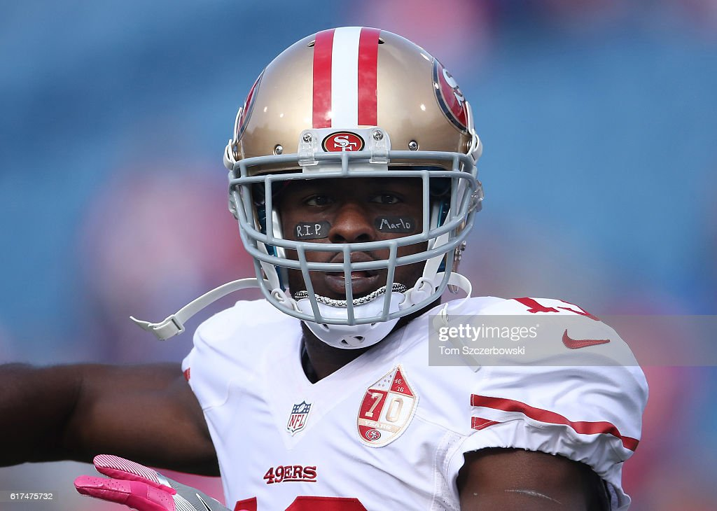 714ce725103 ... White Nike Aaron Burbridge 13 of the San Francisco 49ers warms up  before the start of NFL ...