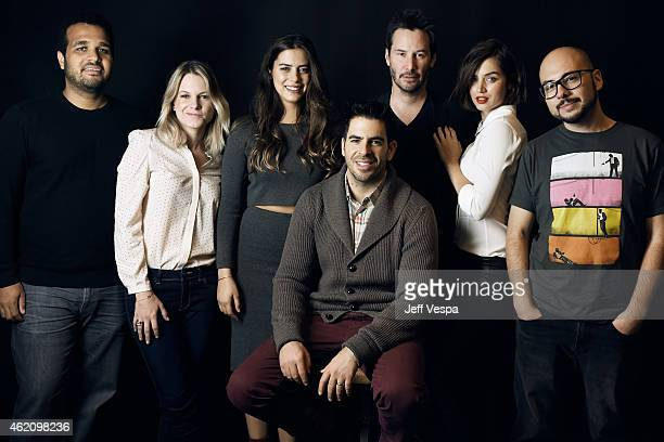 Aaron Burns Ignacia Allamand Lorenza Izzo Eli Roth Keanu Reeves Ana de Armas and Nicolas Lopez from 'Knock Knock' pose for a portrait at the Village...