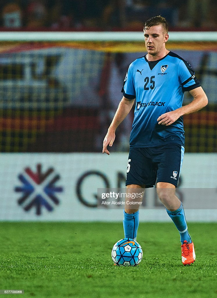 Aaron Calver of Sydney FC in action during the AFC Asian Champions League match between Guangzhou Evergrande FC and Sydney FC at Tianhe Stadium on May 3, 2016 in Guangzhou, China.