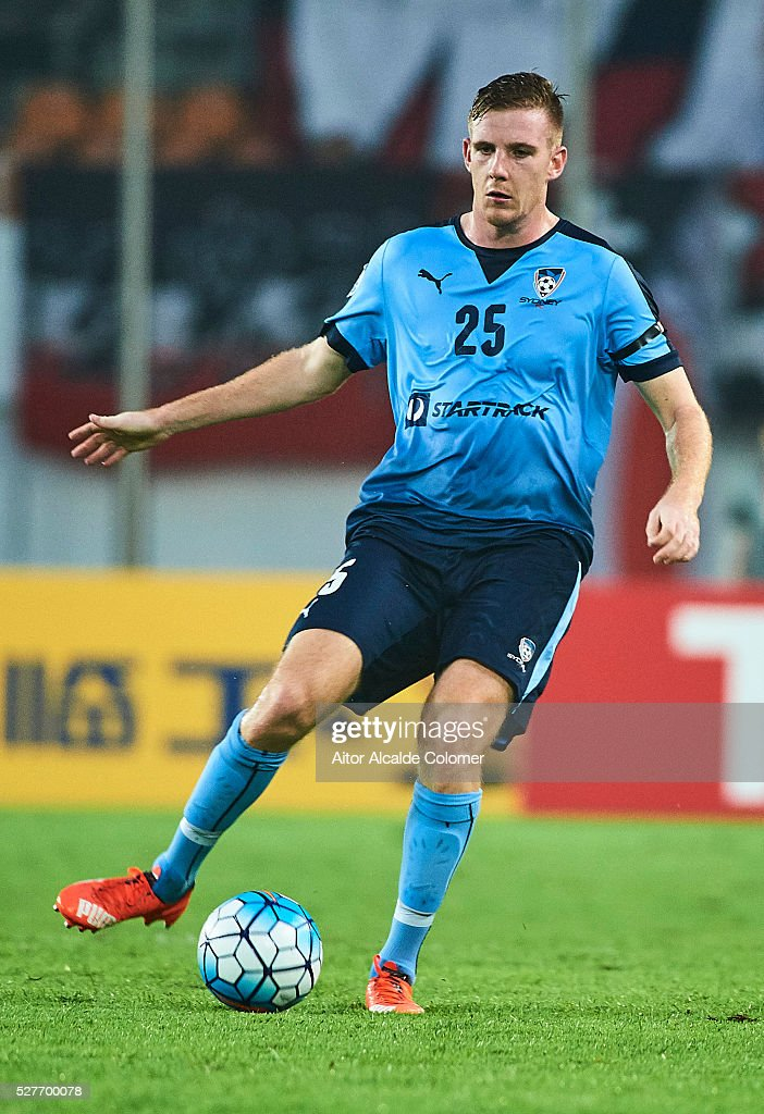 Aaron Calver of Sydney FC looks on during the AFC Asian Champions League match between Guangzhou Evergrande FC and Sydney FC at Tianhe Stadium on May 3, 2016 in Guangzhou, China.