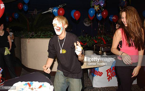 Aaron Carter and Angel Carter during Planet Hollywood Hosts Aaron Carter's and Angel Carter's 17th Birthday Bash at Planet Hollywood in Las Vegas...