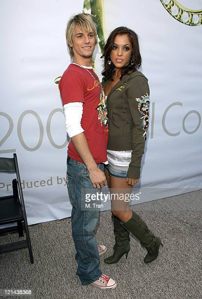 Aaron Carter and Kaci Brown backstage at Tart Fall 2007