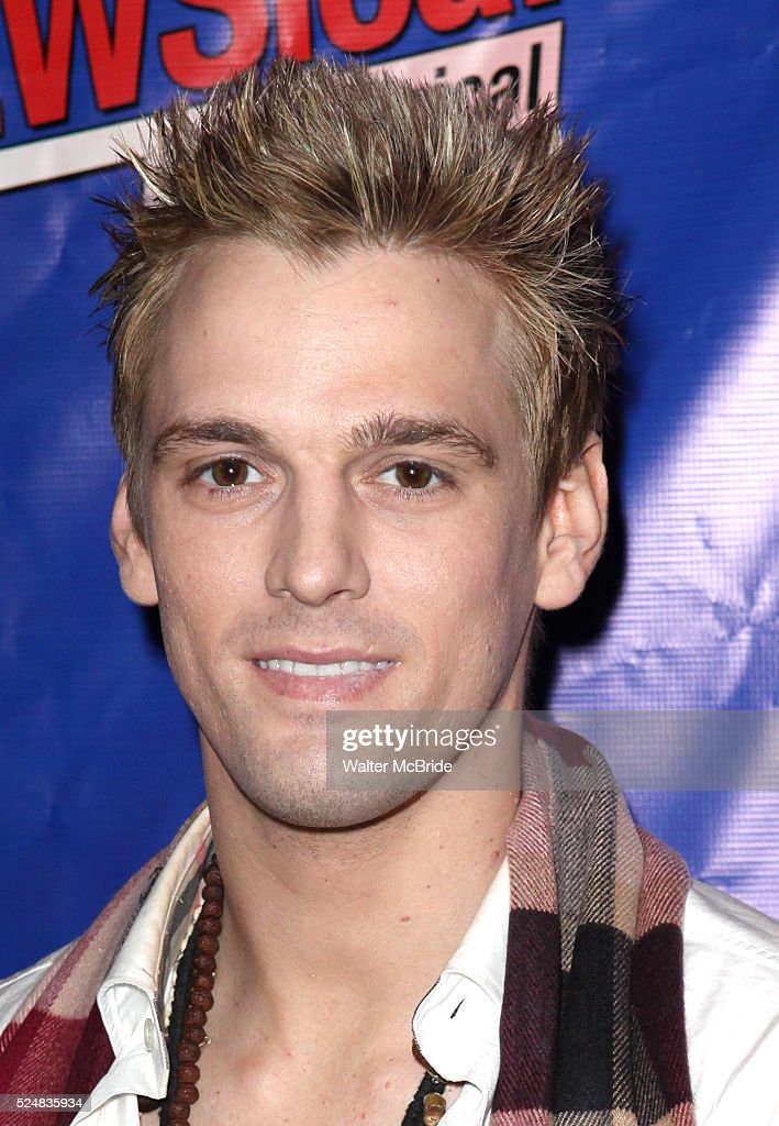 Aaron Carter attending the Opening Night Performance of Perez Hilton in 'NEWSical The Musical' at the Kirk Theatre in New York City on September 17...