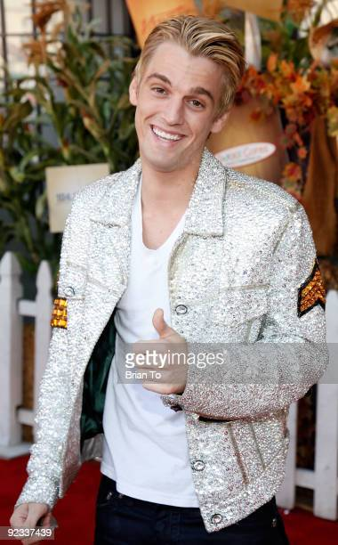 Aaron Carter attends Camp Ronald McDonald For Good Times' 17th Annual Halloween Carnival at Universal Studios Backlot on October 25 2009 in Universal...