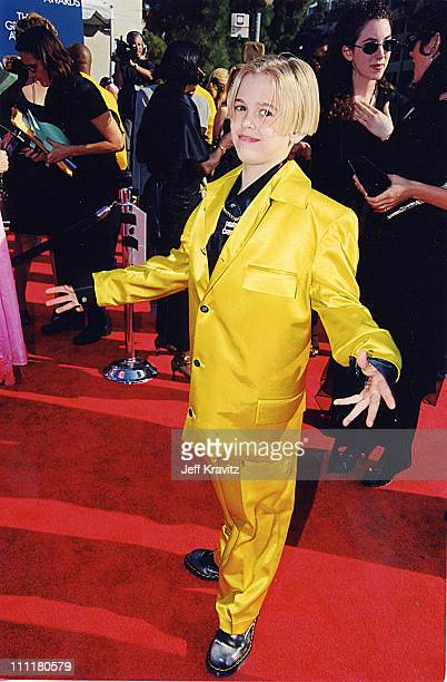 Aaron Carter during 1999 Grammy Awards in Los Angeles California United States