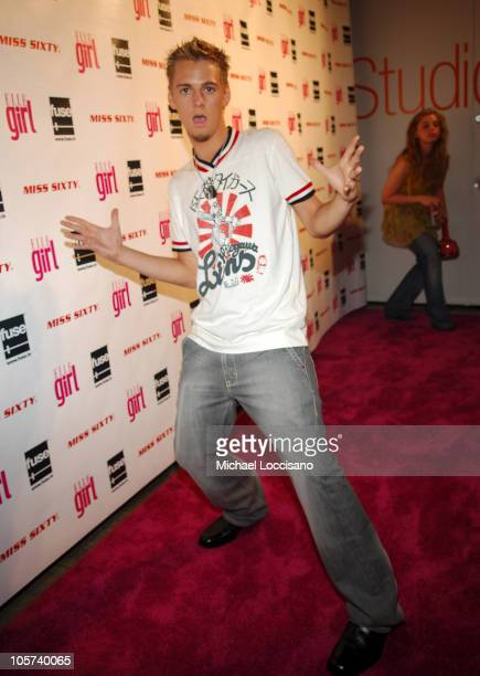 Aaron Carter during 2nd Annual ElleGirl Magazine Hot List Party at Splashlight Studios in New York City New York United States