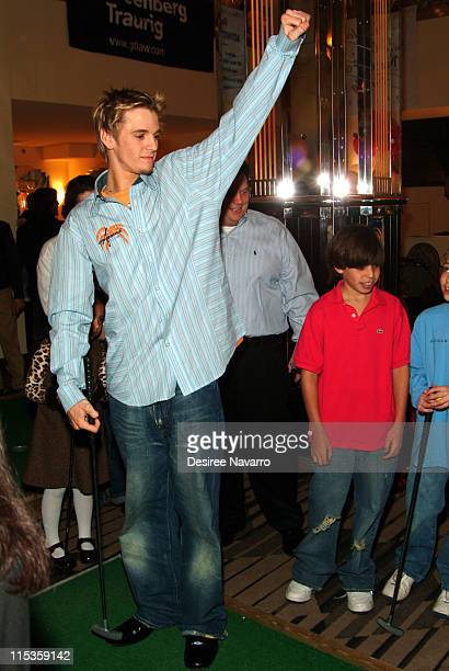 Aaron Carter during 6th Annual TJ Martell Foundation Family Day Indoor Carnival at Cipriani in New York City New York United States