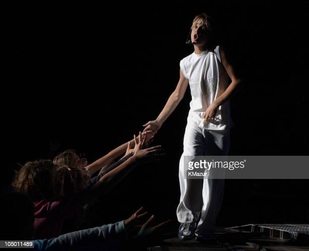 Aaron Carter during Aaron Carter performs at Jones Beach Theater at Jones Beach Theater in Wantagh New York United States