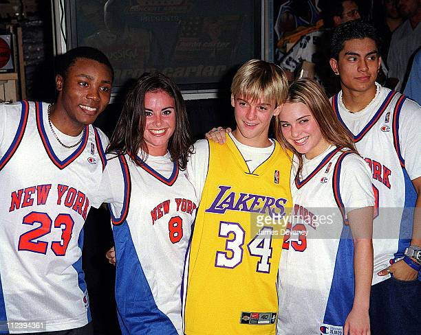 Aaron Carter during Aaron Carter Performs at the NBA Store in New York City at NBA Store in New York City New York United States