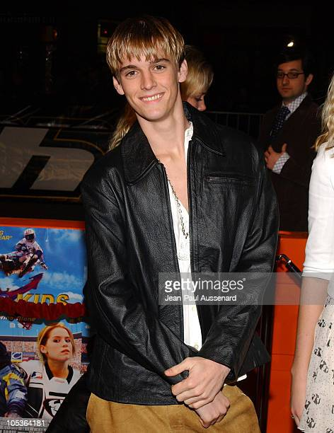 Aaron Carter during 'Motocross Kids' Premiere at Universal City Walk in Universal City California United States