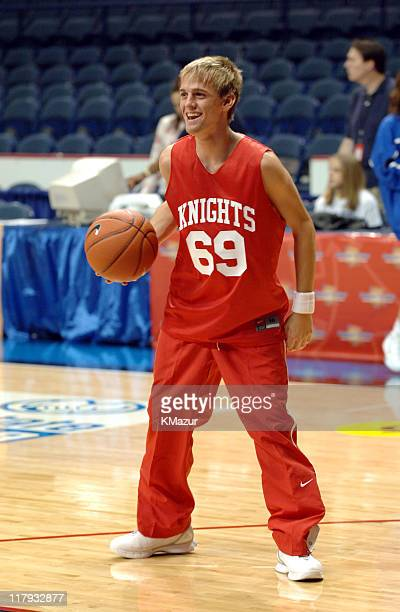 Aaron Carter during *NSYNC's Challenge for the Children VII Celebrity Basketball Game at Allstate Arena in Chicago Illinois United States