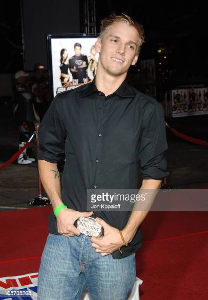 Aaron Carter during 'Supercross' Los Angeles Premiere Arrivals at Veterans Administration Complex in Westwood California United States