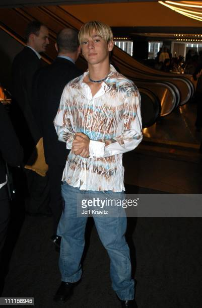 Aaron Carter during Westwood One PreGrammy Radio at Madison Square Garden Terrace in New York City New York United States