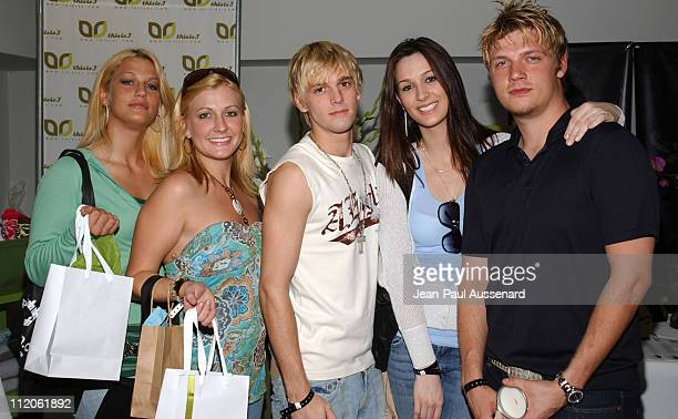 Aaron Carter Nick Carter and guests at This is J during Kari Feinstein Style Lounge Day 2 in Los Angeles CA United States