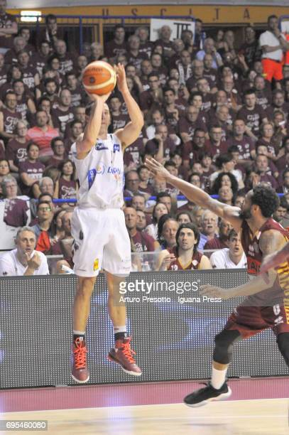 Aaron Craft of Dolomiti competes with MarQuez Haynes of Umana during the match game 1 of play off final series of LBA Legabasket of Serie A1 between...