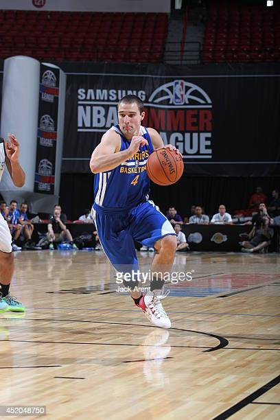 Aaron Craft of the Golden State Warriors drives against the Charlotte Hornets at the Samsung NBA Summer League 2014 on July 11 2014 at the Thomas...