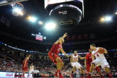 Aaron Craft of the Ohio State Buckeyes dribbles the ball against the Nebraska Cornhuskers defense on January 4 20114 at Value City Arena in Columbus...