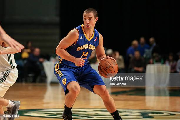 Aaron Craft of the Santa Cruz Warriors dribbles the ball against the Reno Bighorns during an NBA DLeague game on January 31 2015 at Reno Event Center...