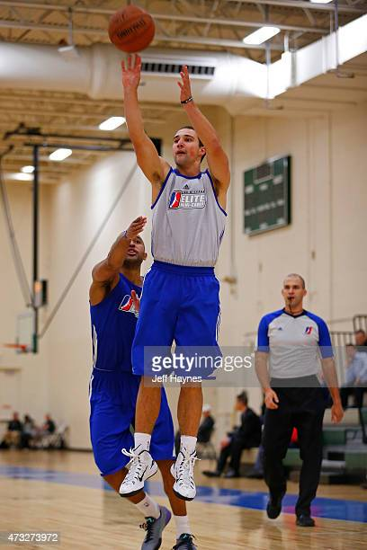Aaron Craft shoots the ball during the 2015 NBA Development League Elite Mini Camp at the Quest Multisport Complex in Chicago May 11 2015 in Chicago...