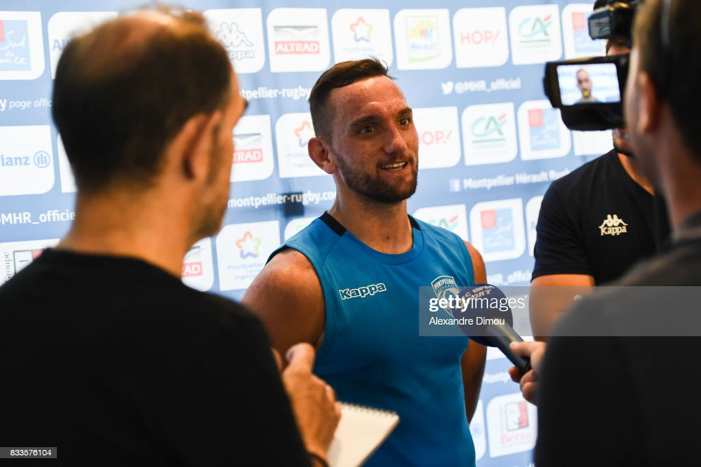 Aaron Cruden of Montpellier during training session of Montpellier at on August 17, 2017 in Montpellier, France.