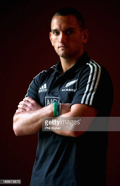 Aaron Cruden of the All Blacks poses during a New Zealand All Blacks media session at The Heritage Hotel on June 6 2013 in Auckland New Zealand