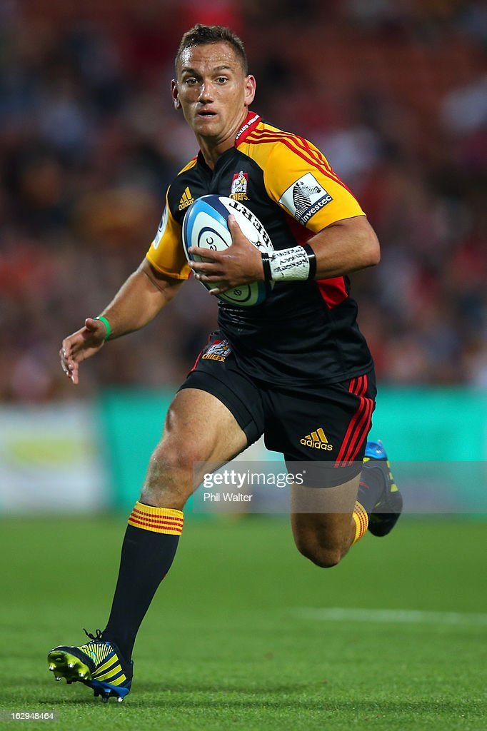 Aaron Cruden of the Chiefs during the round three Super Rugby match between the Chiefs and the Cheetahs at Waikato Stadium on March 2, 2013 in Hamilton, New Zealand.