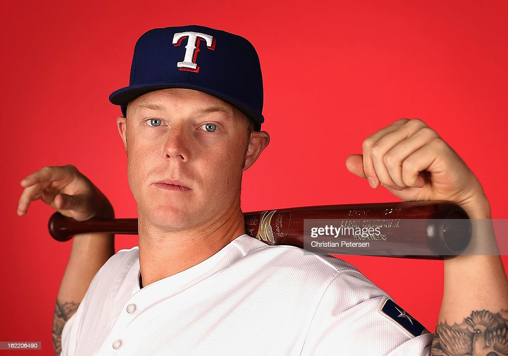 Aaron Cunningham #19 of the Texas Rangers poses for a portrait during spring training photo day at Surprise Stadium on February 20, 2013 in Surprise, Arizona.