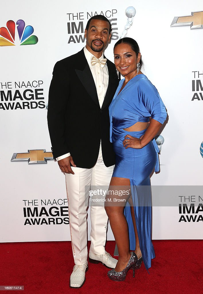 Aaron D. Spears and his wife Estela attend the 44th NAACP Image Awards at The Shrine Auditorium on February 1, 2013 in Los Angeles, California.