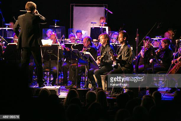 Aaron Dessner and Bryce Dessner perform with the RTE National Symphony Orchestra at Cork Opera House as part of Sounds from a Safe Harbour Festival...