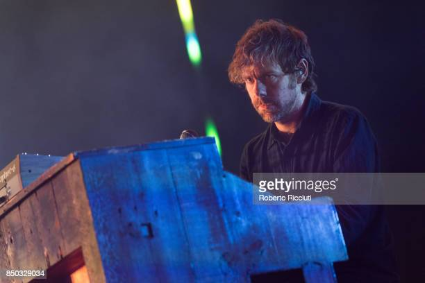 Aaron Dessner of The National performs live on stage at Usher Hall on September 20 2017 in Edinburgh Scotland