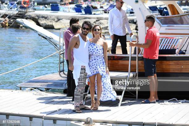 Aaron Diaz and Lola Ponce attend 2017 Ischia Global Film Music Fest on July 9 2017 in Ischia Italy