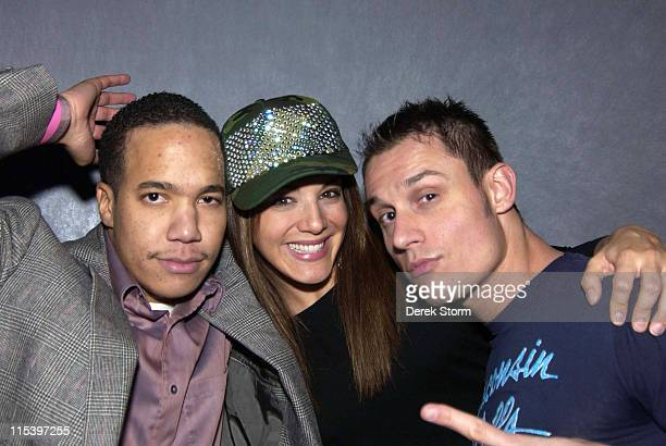 Aaron Diaz JillMichele Melean and Keith Collins during Keith Collins and Simon Rex Host 'Pretty Academy' at Quo in New York City December 1 2005 at...