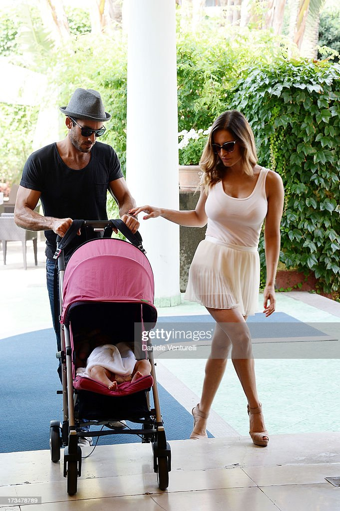 Aaron Diaz, singer Lola Ponce and Erin Diaz attend the Day 3 of Ischia Global Fest 2013on July 15, 2013 in Ischia, Italy.