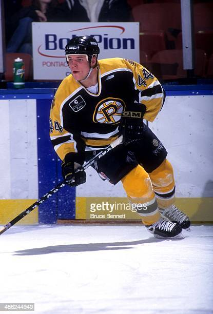 Aaron Downey of the Providence Bruins skates on the ice during an AHL game in February 1998