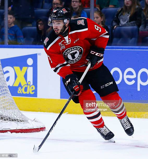 Aaron Dutra of the Quebec Remparts skates against the Baie Comeau Drakkar during their QMJHL hockey game at the Centre Videotron on October 14 2016...