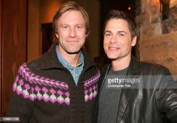 Aaron Eckhart and Rob Lowe *Exclusive Coverage*
